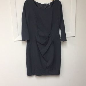 Calvin Klein Gray Fitted Lined Dress Never Used